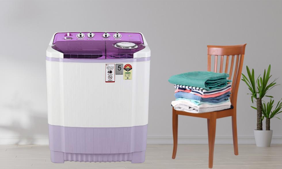 LG 7.5 Kg 5 Star Semi-Automatic Top Loading Washing Machine