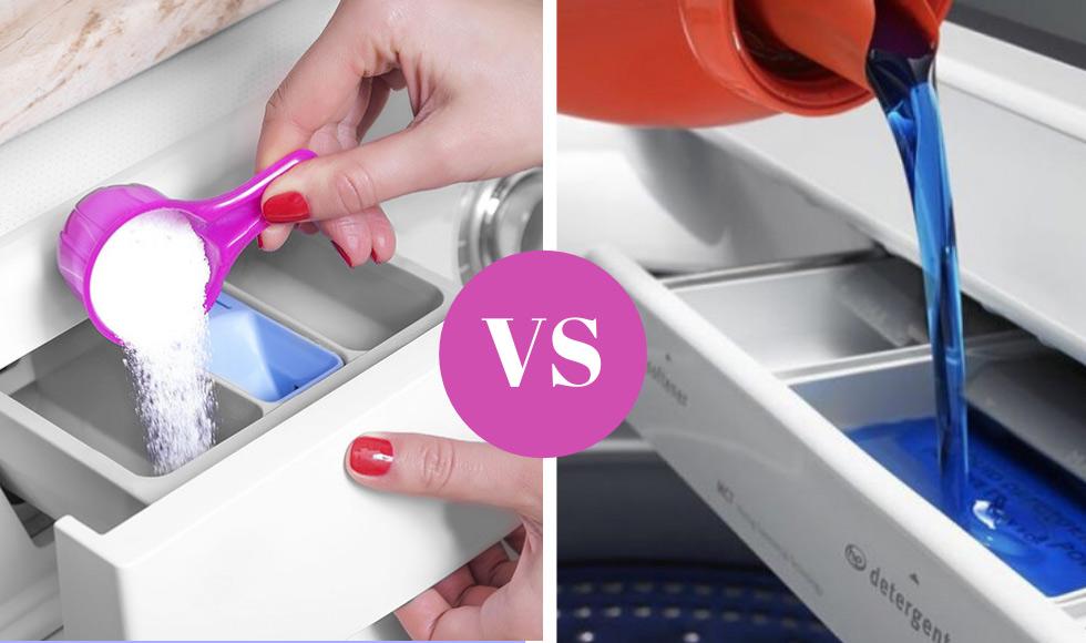 Powder vs Liquid detergent
