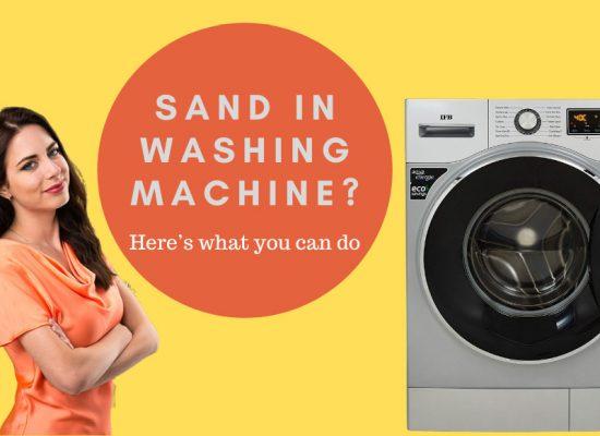 Sand in Washing Machine