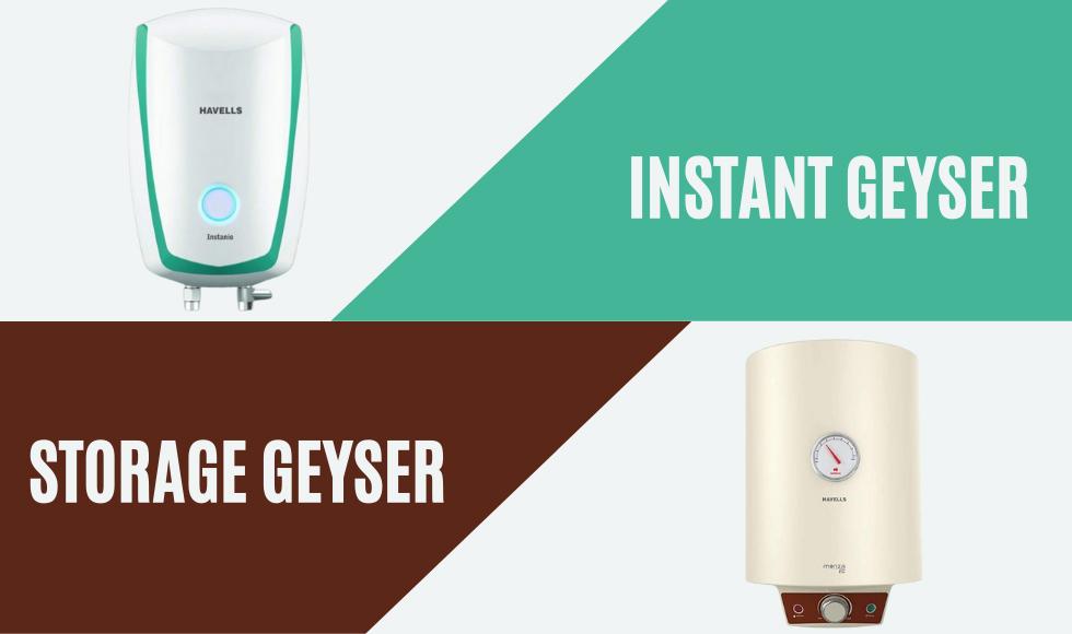 Instant geyser vs storage geyser